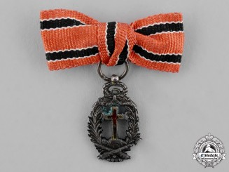 Spain, Kingdom. A Miniature Order of the Holy Cross and Victims of May 2, 1808, Silver Medal, c.1900