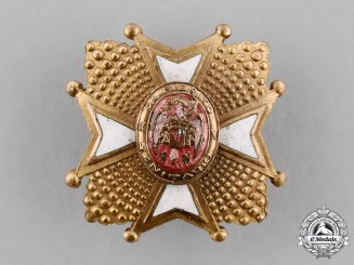 Spain, Franco's period. A Miniature Order of Health, Grand Cross Star, c.1950