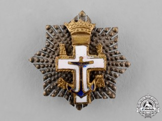 Spain, Franco's period. A Miniature Order of Naval Merit, White Distinction, Grand Cross Star, c.1950
