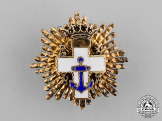 Spain, Franco's period. A Miniature Order of Naval Merit, White Distinction, Grand Cross Star c.1950
