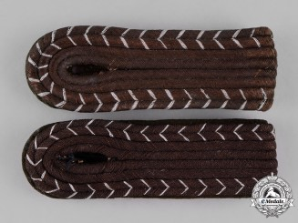 Germany, Ordnungspolizei. A Pair of Bahnschutzpolizei-mann Shoulder Boards