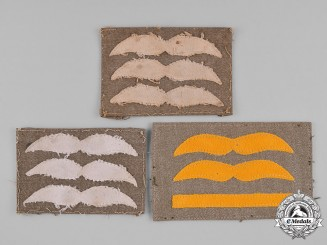 Germany, Luftwaffe. A Lot of Second War Period Luftwaffe Flight Suit Rank Insignia
