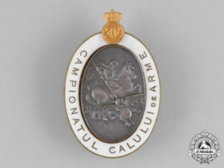 Romania, Kingdom. A Romanian Army Horse Championship Badge