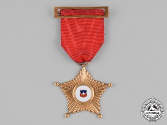 Chile, Republic. A Star of the Chilean Air Forces for 30 Years of Service, Officer c.1950
