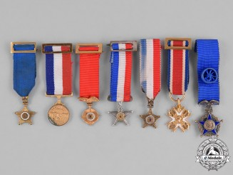 Chile, Republic. A Lot of Seven Miniatures Medals & Campaign Awards