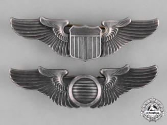 United States. A Pair of United States Army Air Force (UFAAF) Wings