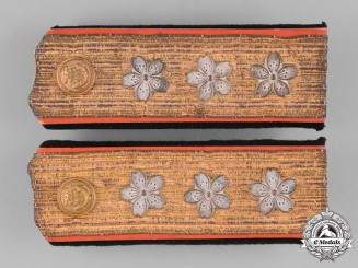 Japan, Empire. A Pair of Imperial Naval Admiral Shoulder Boards