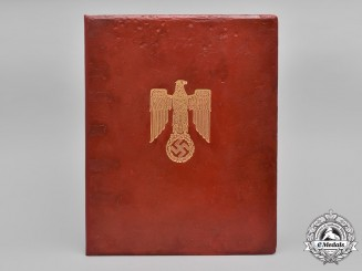 Germany, Third Reich. A Knight's Cross Formal Presentation Folder by Frieda Thiersch