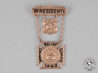United States. Woman's Relief Corps President's Membership Badge