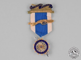 United States. Daughters of the American Revolution Membership Badge, to Martha Bladen Clark