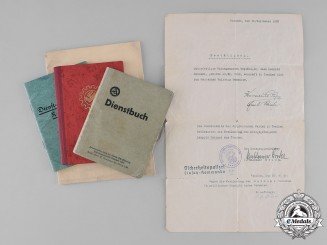 Germany, SA. A Group of Documents Belonging to Scharführer Leopold Heinzel