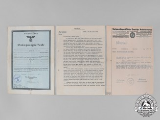 Germany, Third Reich. A Group of Second War Period Documents, c. 1941-1942