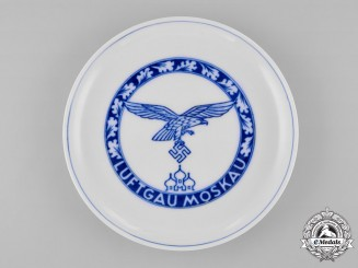 Germany, Luftwaffe. A Luftgau Moskau Porcelain Plate, by Meissen