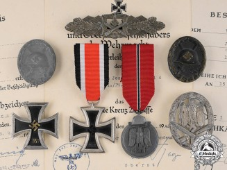 Germany, Heer. The Awards And Documents Of Pionier NCO Josef Schmid (EK1, CCC)