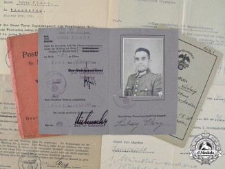 Germany, Ordnungspolizei. A Collection of Documents Belonging to Wachtmeister Ludwig Planz