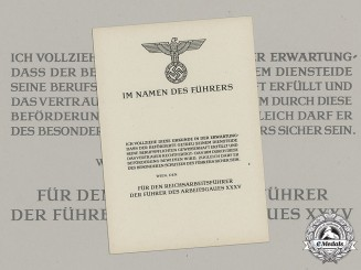Germany, RAD. A Set of Unissued Reichsarbeitsdienst (Reich Labour Service) Promotion Documents