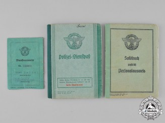 Germany, Ordnungspolizei. A Grouping of ID Books Belonging to Ernst Seidel