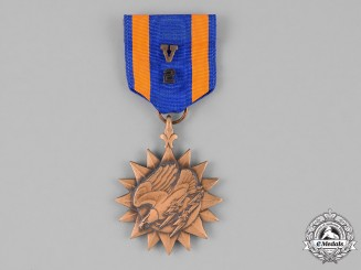 "United States. An Air Medal with Oak Leaf Cluster and ""2"" Numeral"