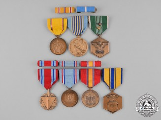 United States. An Air Force Veteran's Lot of Seven Medals and Five Ribbon Bars