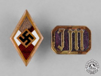 Germany, HJ. A Pair of HJ Membership Badges