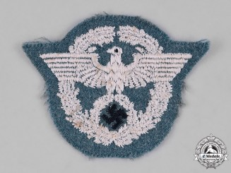 Germany, Ordnungspolizei. A German Police Administration Cap Insignia