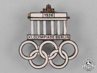 Germany, Third Reich. A 1936 Berlin Olympics Badge by Paulmann & Crone