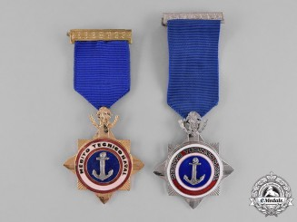 Mexico, Republic. An Order of Naval Technical Merit, I Class and II Class