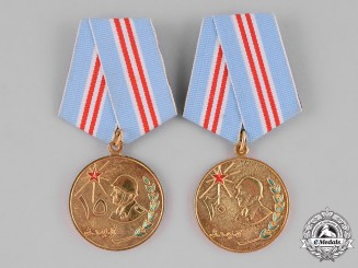 Yemen, People's Democratic Republic, South Yemen). Two Military Long Service Medals