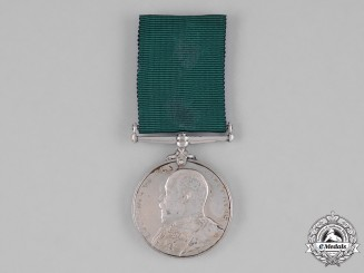 United Kingdom. A Colonial Auxiliary Forces Long Service Medal, 1st Regiment