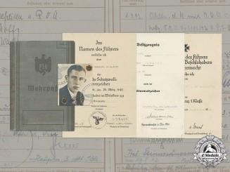 Germany, Heer. A Wehrpaß & Documents To Lieutenant Alexander Schmidt (EK1, KIA in Africa)
