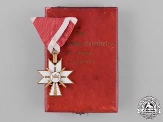 Croatia, Independent State. An Order of King Zvonimir, III Class Knight, c.1942