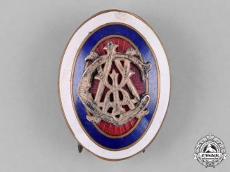 Yugoslavia, Kingdom. A Railway Officer's Cap Badge, c.1930
