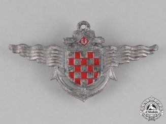 Croatia, Independent State. A Naval Badge 1944