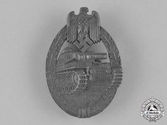 Germany, Wehrmacht. A Panzer Assault Badge, Silver Grade, by Rudolf Richter