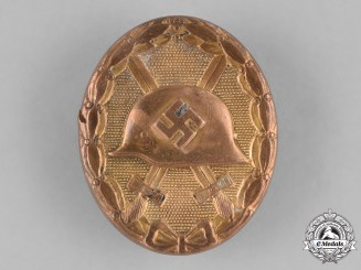 Germany, Wehrmacht. A Gold Grad Wound Badge
