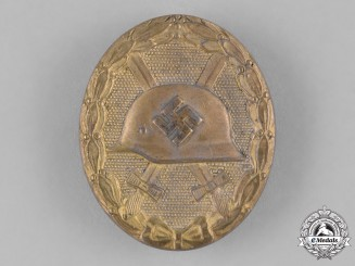 Germany, Wehrmacht. A Gold Grad Wound Badge by Klein & Quenzer