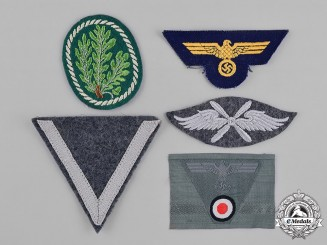 Germany, Wehrmacht. A Group of Second War Period Wehrmacht Insignia
