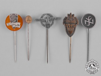 Germany, Third Reich. A Lot of Second War Period Stick Pins