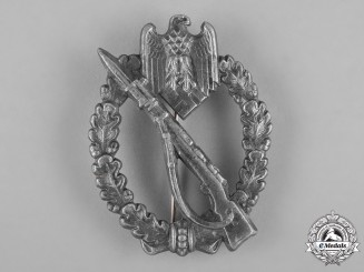Germany, Wehrmacht. A Silver Grade Infantry Assault Badge by Gebrüder Wegerhoff