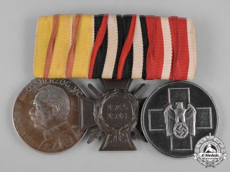 Germany, Wehrmacht. An Imperial and Third Reich Period Medal Bar