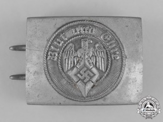 Germany, HJ. A HJ Member's Belt Buckle by Adolf Baumeister