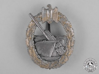 Germany, Kriegsmarine. A Coastal Artillery War Badge by Schwerin & Sohn
