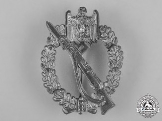 Germany, Wehrmacht. A Silver Grade Infantry Assault Badge by Friedrich Orth