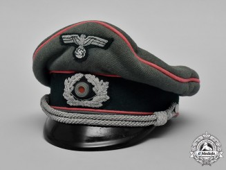 Germany, Heer. An Army Panzer Officer's Crusher Visor Cap, Named