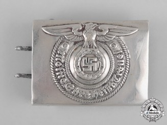 Germany, SS. An SS EM/NCO's Belt Buckle by Friedrich Linden