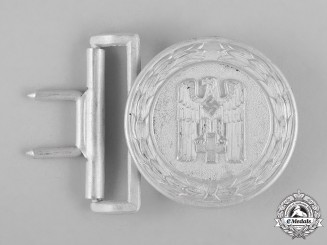 Germany, DRK. A Red Cross Officer's Belt Buckle by Manufacturing Contract 1