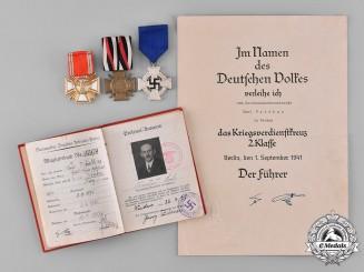 Germany, NSDAP. The Superb & Early NSDAP Long Service Award Grouping of Karl Waidhas