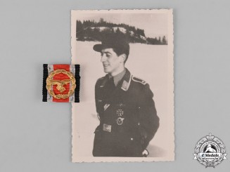 Germany, Luftwaffe. A Honour Roll Clasp with Recipient Photo