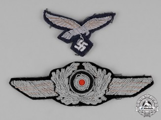 Germany, Luftwaffe. A Pair of Luftwaffe Officer's Cap Insignia