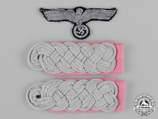 Germany, Heer. A Group of Heer (Army-Panzer) Officer's Uniform Insignia